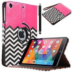 iPad Mini Case, iPad mini 2/3 Case - ULAK 360 Rotating PU Leather Stand Case with Auto Sleep/Wake Function for Apple iPad Mini, iPad Mini 2 & 3 (FOLLOW THE SKY-Magenta) ULAK http://www.amazon.com/dp/B00OOTD89I/ref=cm_sw_r_pi_dp_Uuzyub1TYMYCA