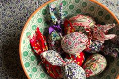 A rowan tree: Easter with Liberty of London fabric, gorgeous.