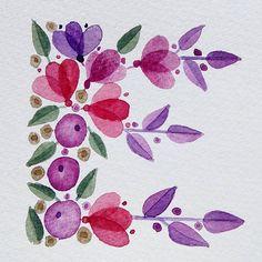 E as in Easter.  Dreaming of Easter.  Dreaming of flowers.  #watercolour #acuarela #floralalphabet #flowerartist #flowers #floralpattern #lettering #handmadefont #handmadetype #kuretake #gansaitambi #handletters #letterE #easter