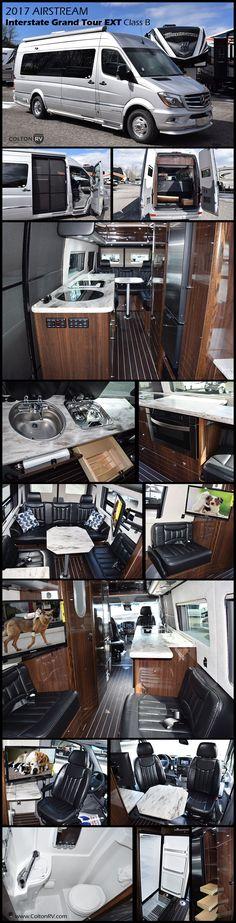2017 Airstream Interstate Grand Tour EXT - - New Class B RV for sale in North Tonawanda, New York. Van Camping, Camping Hacks, Motorhome, Airstream Interstate, Grand Design Rv, Future Trucks, Airstream Interior, Cool Tents, Sprinter Van