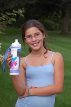 Kids love to express their uniqueness when they design a custom water bottle and give back! http://aquavation.org $20