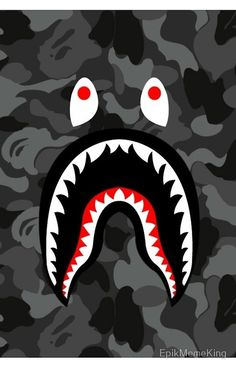 Bape Logo Black Camo Print On Custom Shower Curtain Limited Edition sold by Ooreedoo. Shop more products from Ooreedoo on Storenvy, the home of independent small businesses all over the world. Bape Shark Wallpaper, Bape Wallpaper Iphone, Hypebeast Iphone Wallpaper, Supreme Iphone Wallpaper, Graffiti Wallpaper, Cool Wallpaper, Bape Art, Bape Wallpapers, Shark Logo