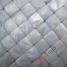 Pure White Convex Mother Of Pearl Mosaic Tiles