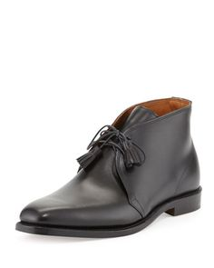 653be5441b6a8 Leather Tassel Chukka Boot by Ralph Lauren Black Label at Neiman Marcus.