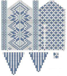 Glove knitting pattern: Free chart