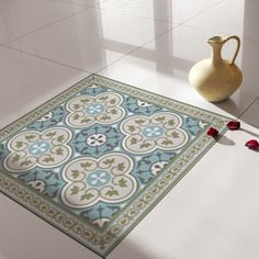 Traditional Tiles - Floor Tiles - Floor Vinyl - Tile Stickers - Tile Decals - bathroom tile decal - kitchen tile decal - 178 by videcor on Etsy