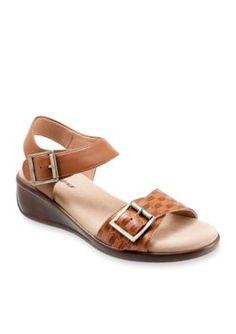 Trotters Brown Eden Wedge Sandal