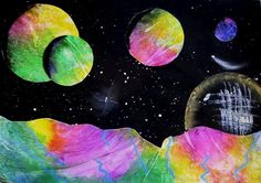 """The Year Four's have worked hard this term making these """"Fantasy Space Scenes"""". They have had an o..."""