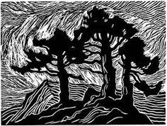 Birger Sandzen - woodblock