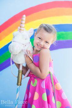 unicorn party rainbow backdrop