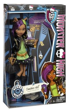In Box Pictures of New Scaremester Jinafire and Clawdeen - Monster High Dolls . New Monster High Dolls, Monster High Doll Clothes, Love Monster, Monster High Party, Monster High Custom, Plastic Canvas Tissue Boxes, Plastic Canvas Patterns, Howleen Wolf, Cool Monsters