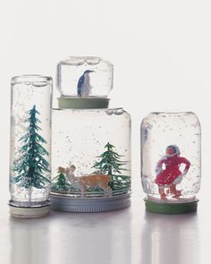 DIY Snow Globes - Th