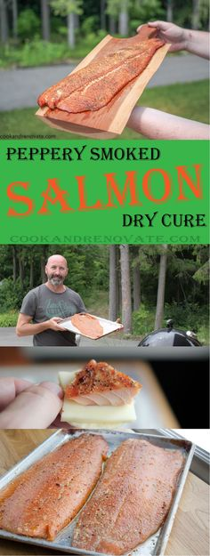 My version of this spicy and peppery ocean delight turned out to be a favourite in our household, and with friends. When we are entertaining or being entertained, it tends to be served or given as a gift.  www.cookandrenovate.com #salmon #drydure #smokedsalmon #smoked #nomsg