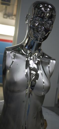 Spray chromed in gloss and matt running chrome finish