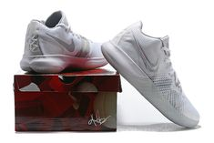 52b12b33323d Mens Nike Kyrie Flytrap White Metallic Silver-Wolf Grey 2018 Nike Kyrie