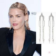 Busy Philipps wearing Nikos Koulis earrings at the Daily Front Row Fashion Awards 2019 Beverly Hills Hotel, The Beverly, Busy Philipps, Daily Front Row, Veronica Lake, The Emmys, Joan Smalls, Diamond Earing, Sleek Hairstyles