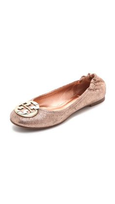 Tory Burch Reva Metallic Ballet Flats $235 http://www.shopbop.com/reva-metallic-ballet-flat-tory/vp/v=1/1545192364.htm?fm=search-viewall-shopbysize