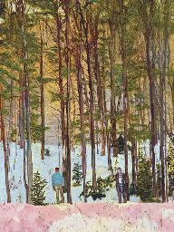 Peter Doig (b. 1959) Figures in Trees