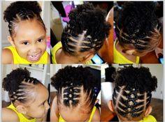 piggy back ponytails