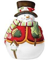 Pfaltzgraff Holiday Serveware, Snowman Cookie Jar
