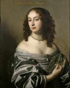 Sophia, Princess Palatine, a descendent of the Stuarts, was the youngest daughter of Elizabeth of Bohemia and later Electress of Hanover, by Gerard van Honthorst