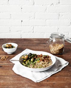 Homemade Grain Blend with Roasted Brussels Sprouts and Walnuts — a Better Happier St. Sebastian