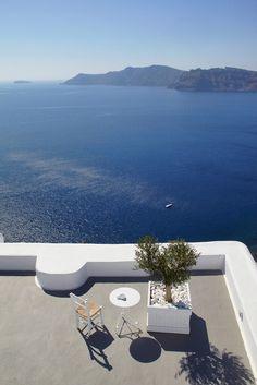 View, Katikies Hotel in Oia, Santorini, Greece by Eleni Psyllaki