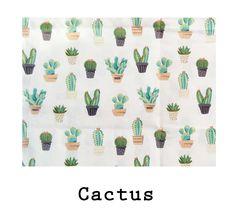 Loneta de algodón Cactus. Disponible en todos los productos Arethaju. #estampados #cactus #flamencos #sewing #fabrics #cotton