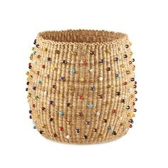 Natural Beaded Basket