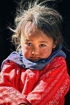 Tibetan Tribal girl-Photo by Tim Buckley