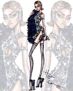 ❀ Hayden Williams Fashion Illustrations ❀ Glam Night Out ❀ Traffic Stopper ❀ @teendream1 ❀