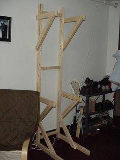 OK, I have seen a few pictures of these on here but never have seen a good DIY how to. So I built a DIY wood, Bike Storage stand. Standing Bike Rack, Bike Storage Stand, Bici Retro, Bike Storage Solutions, Storage Ideas, Cycle Stand, Bicycle Garage, Diy Bike Rack, Cycle Storage