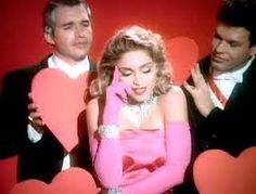 "Madonna ""Material Girl"" song was the pop song of the 80's. Madonna and Michael Jackson were the 80's pop culture stars."