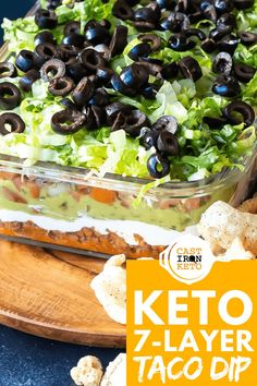 Ground Meat Recipes, Low Carb Chicken Recipes, Healthy Low Carb Recipes, Keto Recipes, Low Carb Tacos, Low Carb Diet, Low Carb Taco Seasoning, Slow Cooker Ground Beef, Layered Taco Dip