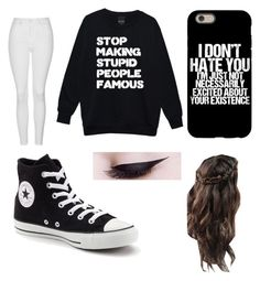 """""""Untitled #102"""" by journeycarothers on Polyvore featuring Topshop and Converse"""
