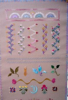 The world's first online magazine for Crazy Quilting - Article Embroidery Stitches Tutorial, Embroidery Sampler, Silk Ribbon Embroidery, Hand Embroidery Patterns, Embroidery Techniques, Embroidery Applique, Cross Stitch Embroidery, Embroidery Designs, Embroidery Supplies