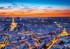 Clementoni Abenddämmerung Romantik Paris Eiffelturm Stadt der Liebe Erwachsenenpuzzle Clementoni Puzzle, Paris Skyline, New York Skyline, Travel, Paris Eiffel Towers, City, Love, Viajes, Destinations