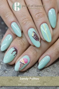 My love for ice cream emerged at an early age.. and has never left!  #nailart #icecream #pastel #colors #summer‬ #pointofbeautygr