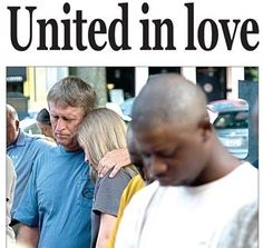 My husband and daughter were photographed during a special ceremony in our hometown, remembering the nine men and women slain in Charleston.