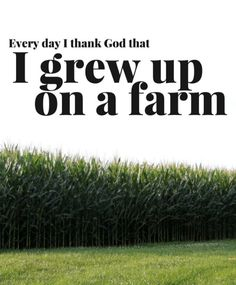 You can't beat the life lessons, the hard work and rewards, the family time. Here are a few reasons we thank God every day that we grew up on a farm! Country Girl Quotes, Country Girls, Farm Girl Quotes, Country Farm, Country Life, Country Living, Country Style, Country Music, Agriculture Quotes