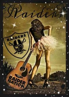 "♫♪ Music ♪♫ Guitar girl ""The Long Road To Nashville"" by Georgi Ruley: Raiders Baby, Raiders Football, Oakland Raiders, Raiders Team, Raiders Stuff, Guitar Girl, Music Guitar, Photo Cowgirl, Oscar Wilde"