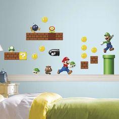 Room Mates Nintendo 45 Piece Super Mario Wall Decal