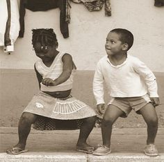reggae bliss. Great photo of a couple of kids dancing
