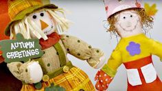 Crafts for kids and DIY ideas. A doll friend for Scarecrow. Thanksgiving...