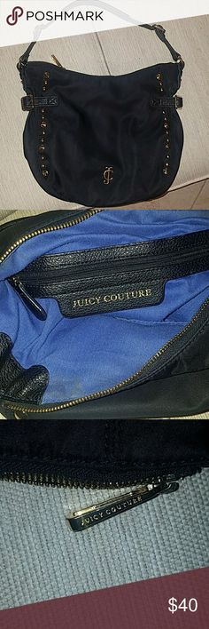 Juicy Couture handbag Black with gold detail and blue liner Juicy Couture Bags Shoulder Bags