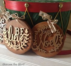 Rustic and Glam Ornaments Across the Blvd