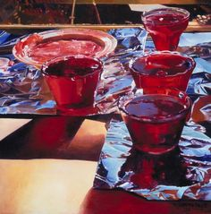 Canadian realist painter Mary Pratt was born in 1935 in Fredericton. This is Red Currant Jelly (via Canadian Painters, Canadian Artists, Ottawa, Mary Pratt, Currant Jelly, Pop Art, Inuit Art, Popular Artists, Art Brut