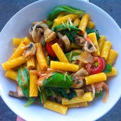 Nudel-Salat vegan glutenfrei fettarm