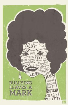 Bully Poster Series - Bullying leaves a mark.