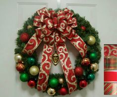 Pine Christmas Wreath Christmas Wreaths for by HappyTimeDecor